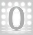 0 over back lit background vector image