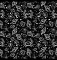 sea shell beautiful linear marine life seamless vector image