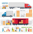 logistic infographic elements set with transport vector image