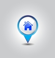house pins vector image