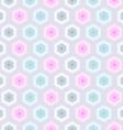 Seamless retro honeycomb pattern-2 vector image