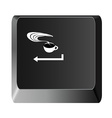 button to enter the coffee relax vector image vector image