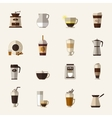 Coffee flat icons vector image vector image