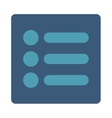 Items flat cyan and blue colors rounded button vector image