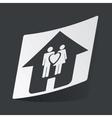 Monochrome family sticker vector image vector image