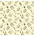 Seamless pattern with cosmetic vector image vector image