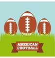 american football design vector image