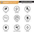 concept line icons set 17 cave art vector image