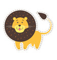 cute lion cartoon flat sticker or icon vector image
