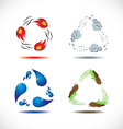 Four elements of nature vector image