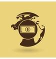 global economy isolated icon design vector image