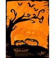 grunge Halloween theme vector image