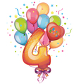 Happy Birthday four vector image