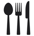 Knife fork and spoon vector image
