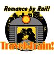 Romance by rail vector image