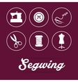 Sewing icon design vector image