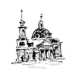 sketch drawing of historical building from Kyiv vector image