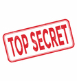 Stamp top secret with red text vector image