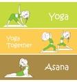 Yoga banner Professional banner vector image