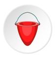 Fire bucket icon cartoon style vector image