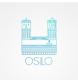 Town hall The symbol of Oslo Norway vector image