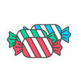 tasty sweet candy icon vector image