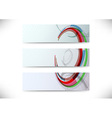 Set of headers with abstract element vector image vector image