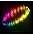 Shining neon lights abstract ring vector image