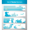 Set of abstract blue web headers vector image