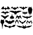 Set of different bats vector image vector image