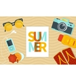 Summer banner template vector image
