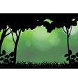 Silhouette forest vector image