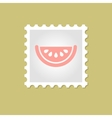 Watermelon Slice stamp vector image