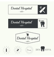 Vintage hipster banners insignias with tooth vector image