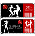 Voucher ticket vector image
