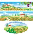 agriculture landscapes vector image
