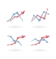 Business graph icons set vector image