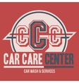 Car Care Center label t-shirt vector image