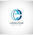 letter e logo vector image