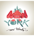 New York city 3d typography vector image