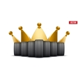 Realistic rubber tires banner with a golden crown vector image
