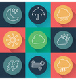 set of weather flat icons vector image