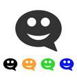 smile smiley message icon vector image