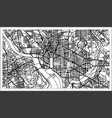 washington dc usa map in black and white color vector image
