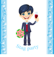 Stag party invitation vector image