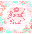 sweet heart design elements vector image