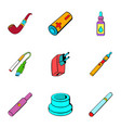 recharge icons set cartoon style vector image