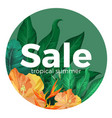 sale tropical summer advertisement with gorgeous vector image