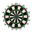 cartoon image of dart board icon dart symbol vector image