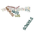los angeles schools welcome back the arts text vector image